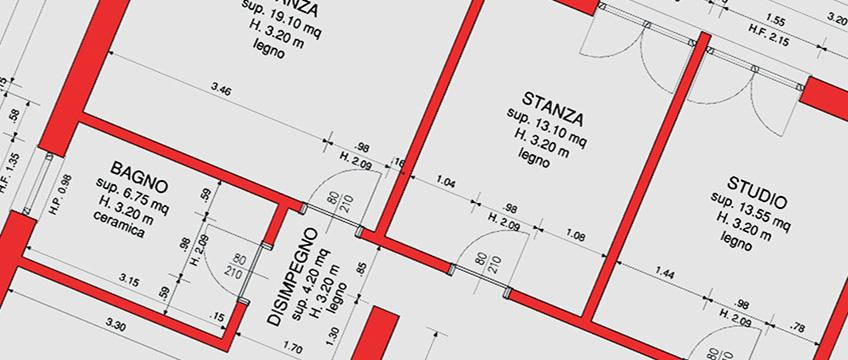 Progettazione architettonica casa a Milano